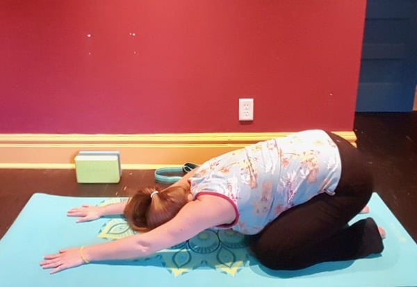 trying-yoga-gaiam-childs-pose-flexibility image