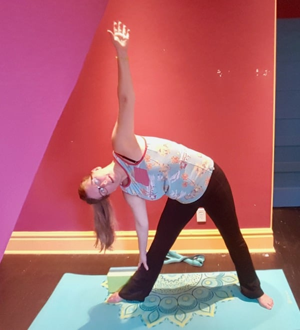 trying-yoga-gaiam-extended-triangle-flexible-pose image