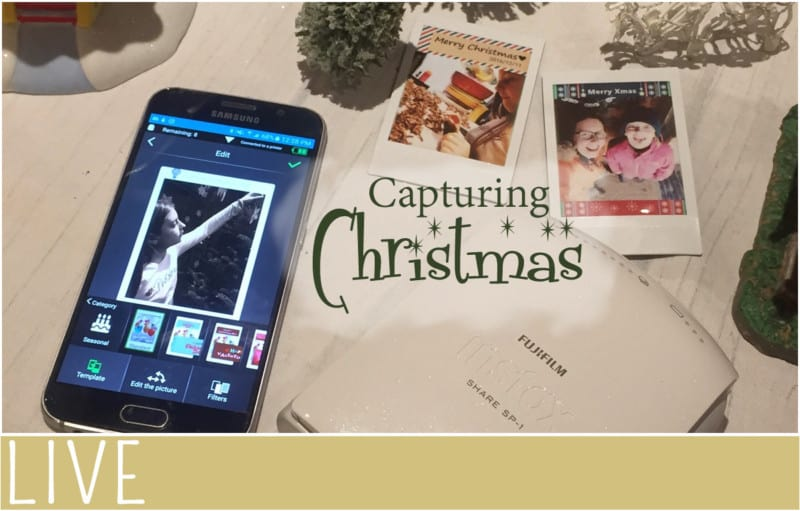 image of instax printer, photo samples and smartphone app
