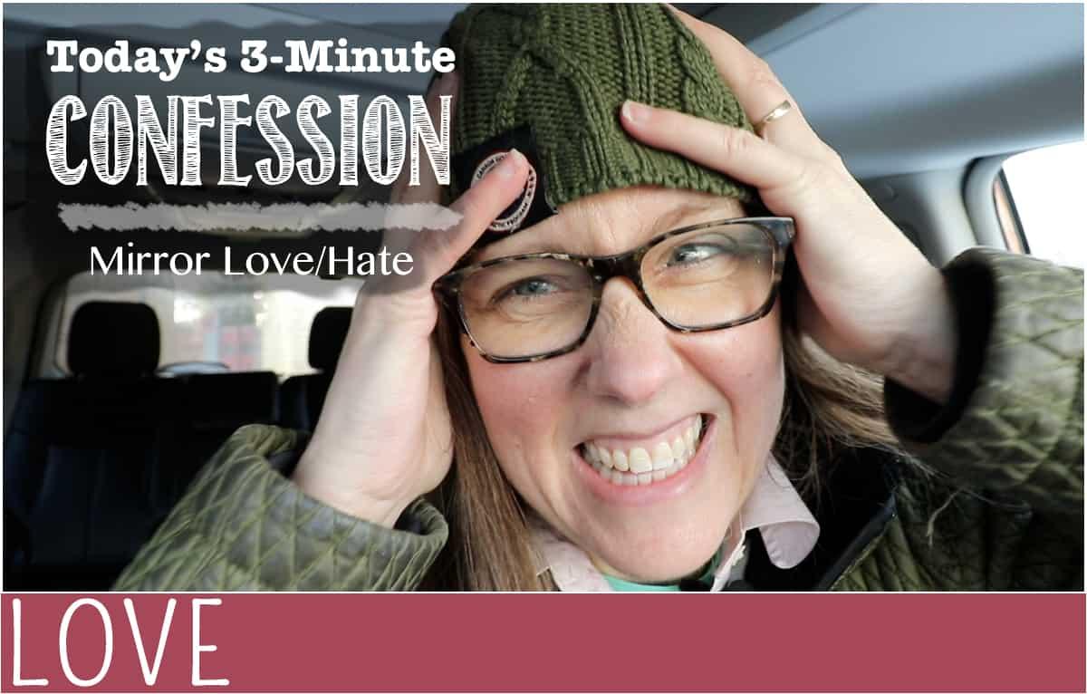 confession hide the mirror header graphic