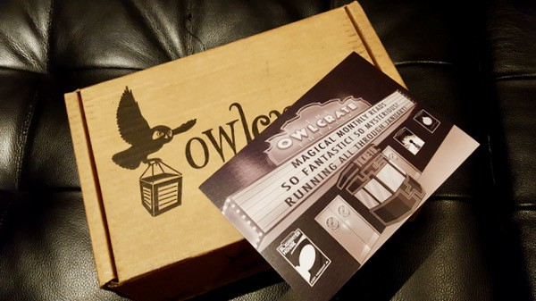 owlcrate january unboxing package image