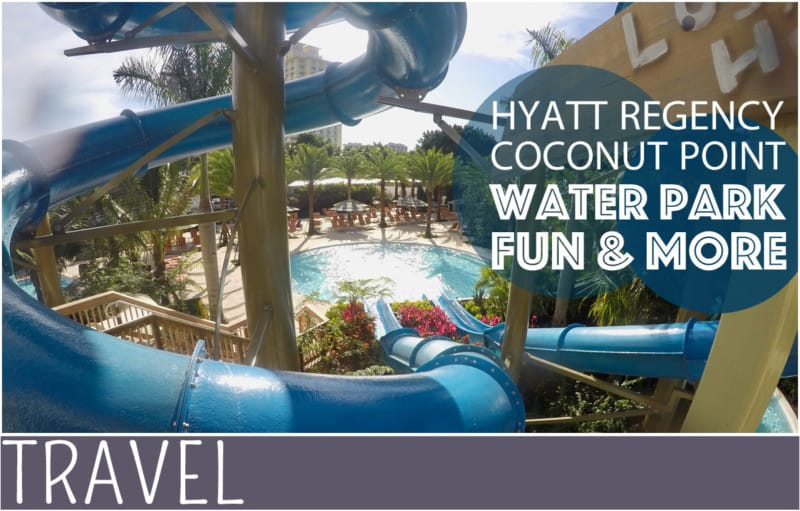family travel coconut point Florida water park review slide image