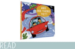 kids book review are we there yet book cover art