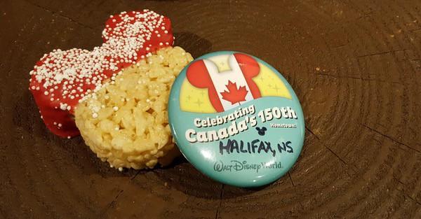family travel 150 canada facts Epcot Disney World free pin image