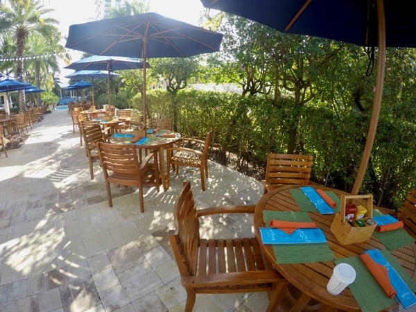 family travel florida vacation coconut point poolside dining image