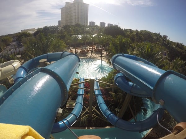family travel florida vacation coconut point corkscrew slide waterpark image
