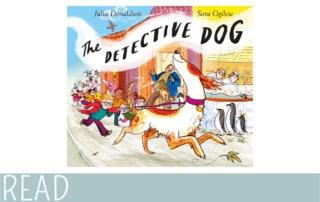 books for kids dog detective cover art image