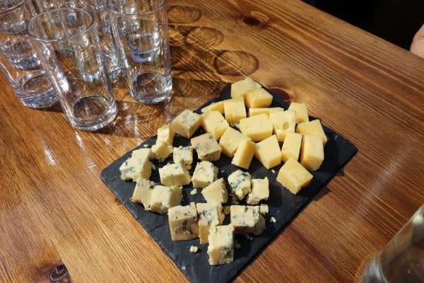 everythingmom family travel london easet end food tour cheese tasking platter with 3 cheeses