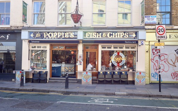 everythingmom family travel london easet end food tour poppies fish and chips store front