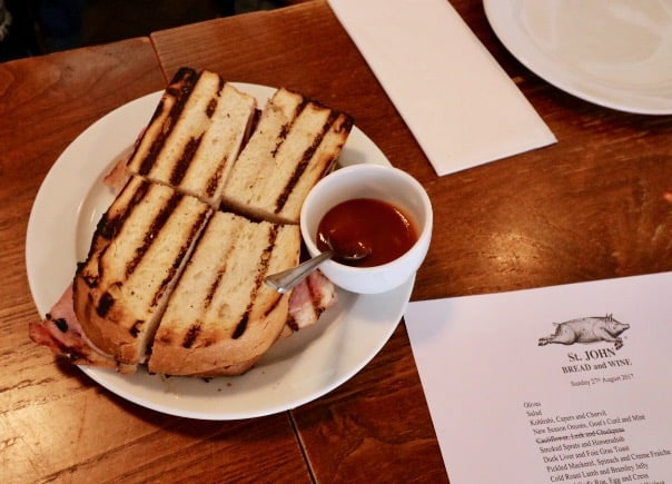 everythingmom family travel london east end food tour bacon butty sandwich