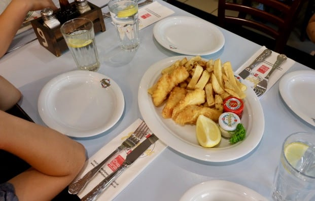 everythingmom family travel london east end food tour poppies fish and chips platter