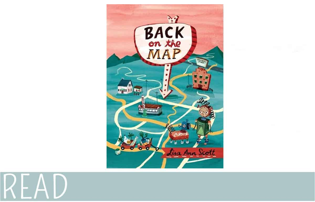 Back on the Map middle grade book cover art