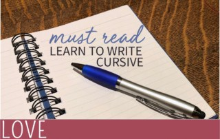 MUST READ kids learn to write cursive pen and paper image