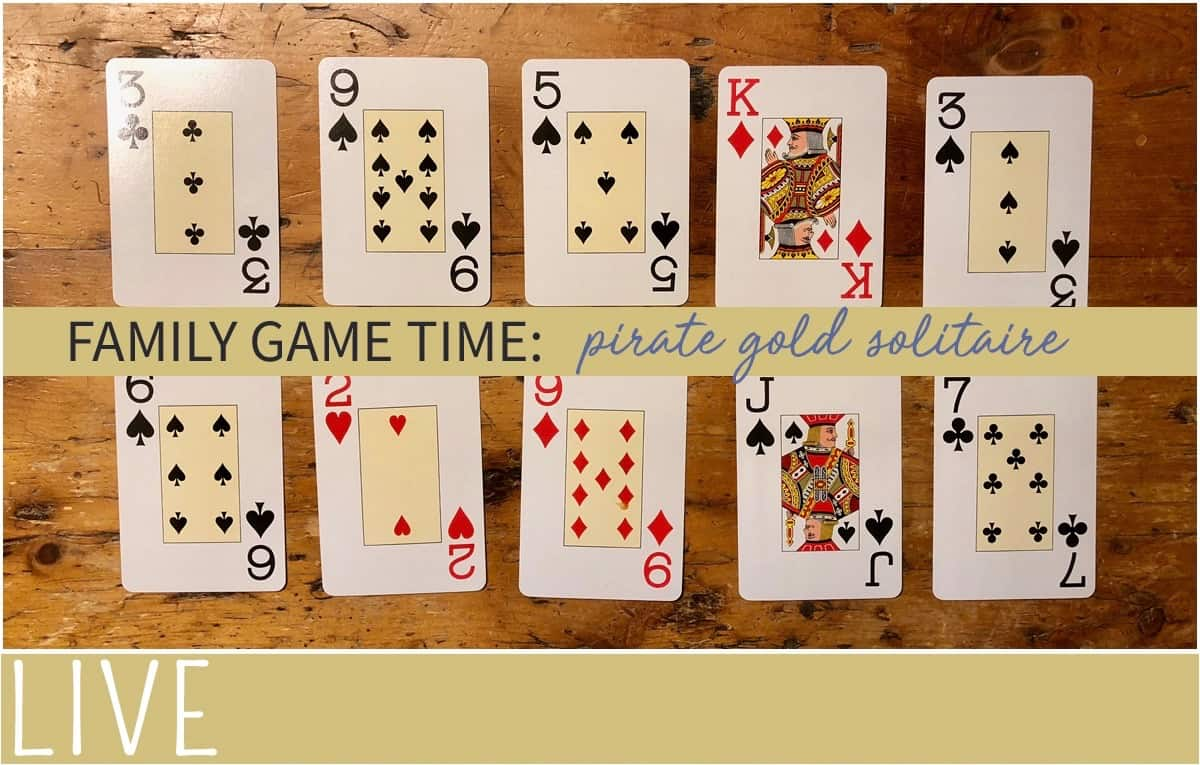 Pirate Gold solitaire set up