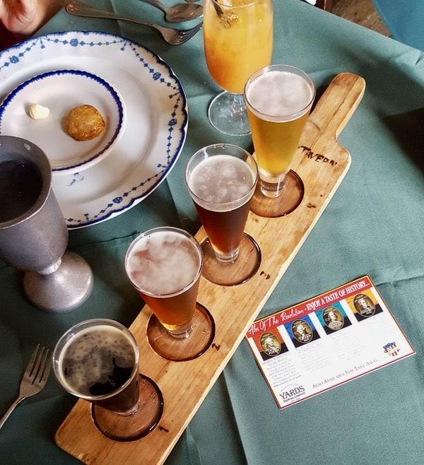 family travel everythingmom historic philadelphia city tavern beer flight