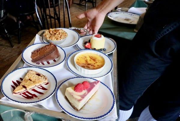 family travel everythingmom historic philadelphia city tavern dessert tray closeup