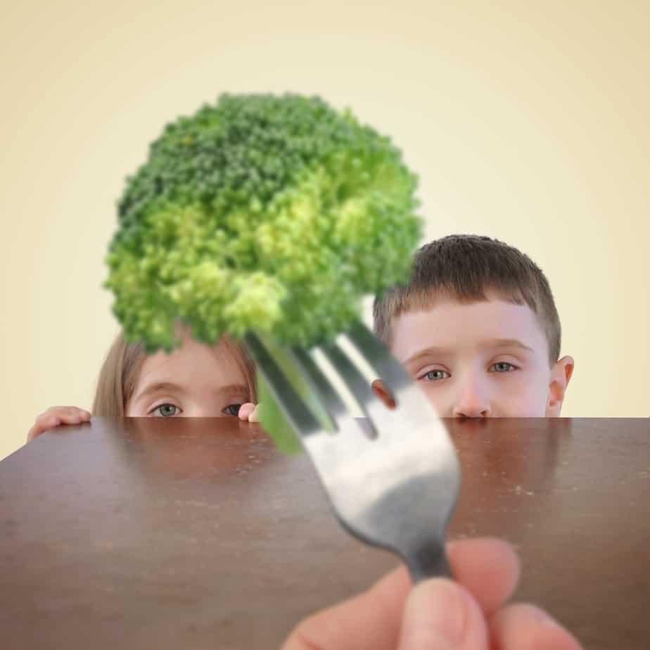 kids hiding from broccoli