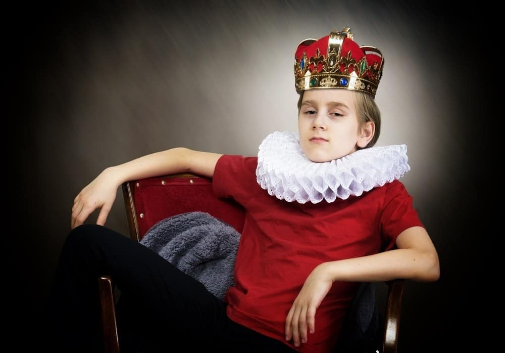 crowned young boy