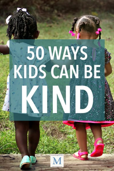 50 Ways Kids Can be Kind
