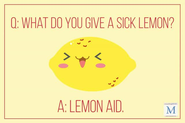 what do you give a sick lemon jokes for kids