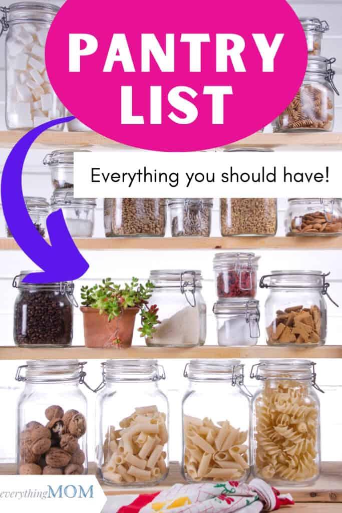 Pantry Essentials List