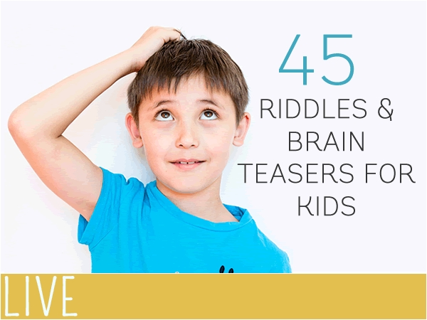 Image result for 45 riddles and brain teasers for kids
